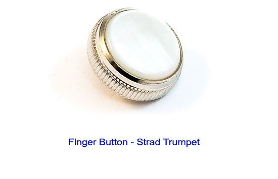 Bach Stradivarius Finger Button for Trumpet / Cornet - Silver Pl